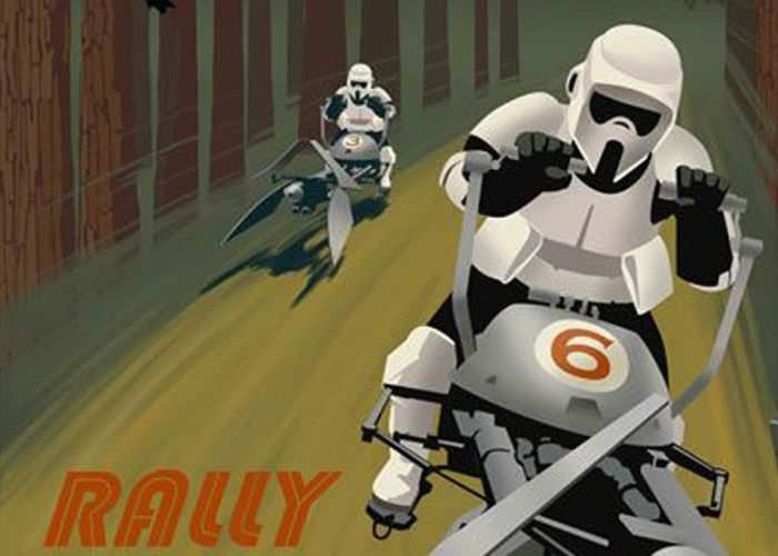 Creative Art-Deco Star Wars Tourism Posters