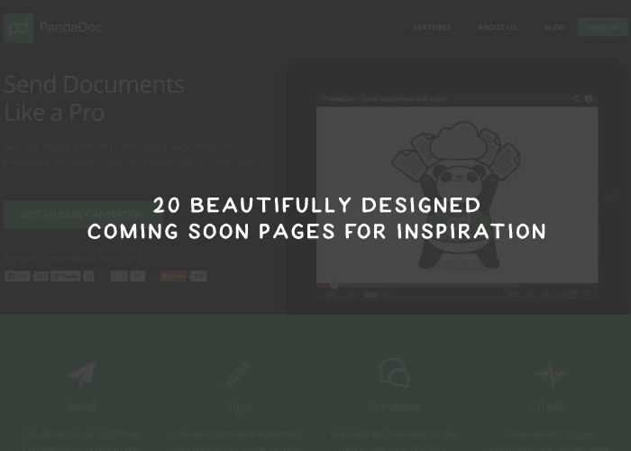 20 Beautifully Designed Coming Soon Pages for Inspiration