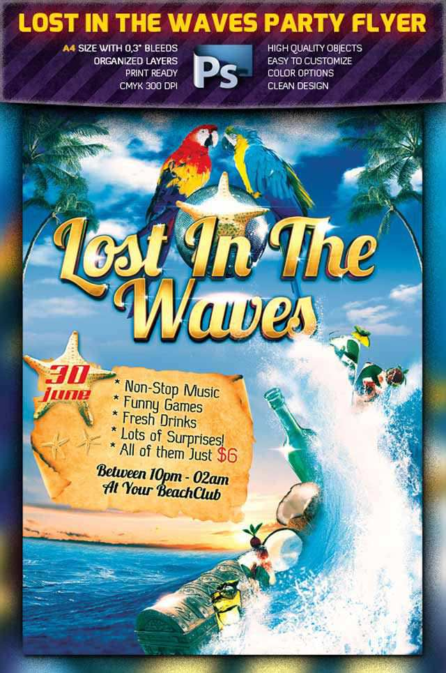 Lost in the Waves Flyer Flyer