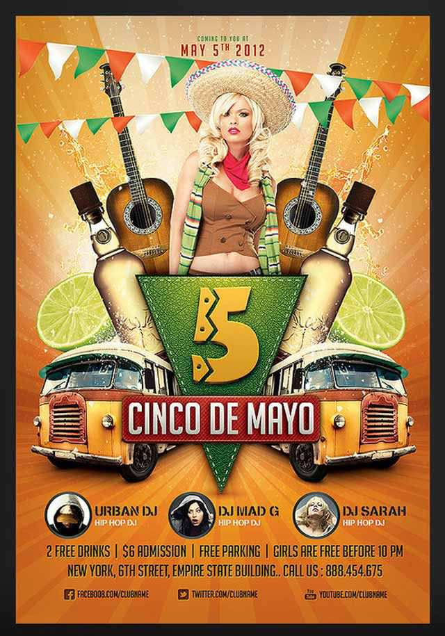 Cinco de Mayo Party Flyer 2 Flyer
