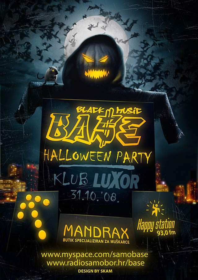 Base Flyer Halloween Flyer