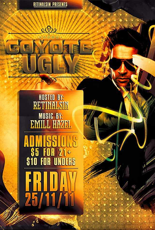 PSD Coyote Ugly Flyer Template Flyer