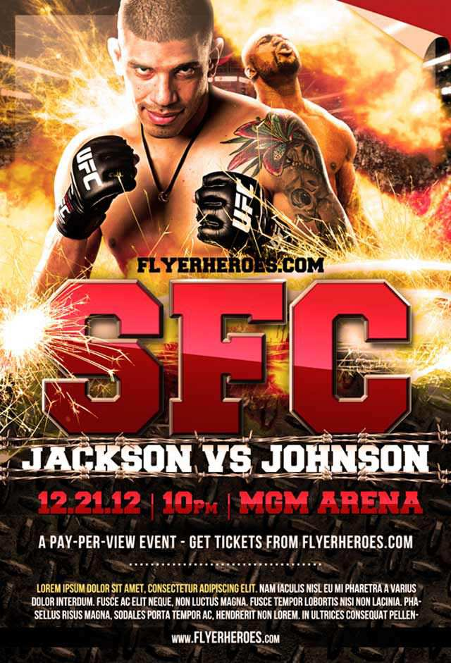 MMA Fight Night Flyer Flyer