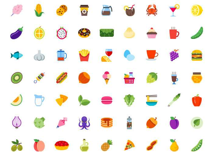 100 Free Food & Drink Icons in EPS, SVG & PNG Formats
