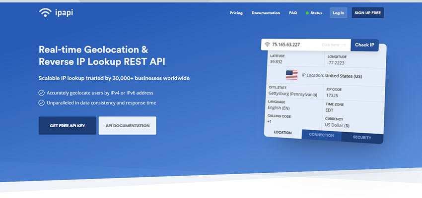 ipapi home page