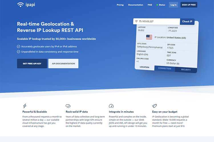 ipapi Adds Real-Time Geolocation and IP Data to Your Projects