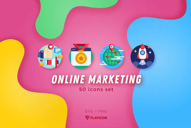 Free Online Marketing & SEO Icon Set in PNG & SVG Formats