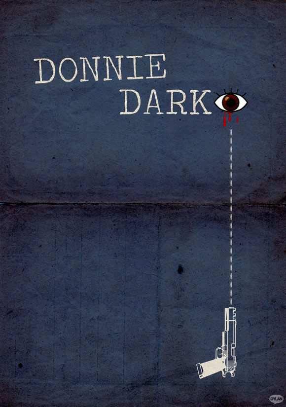 creative minimal poster of the Donnie Darko movie
