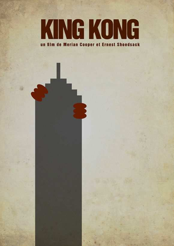 creative minimal poster of the King Kong film