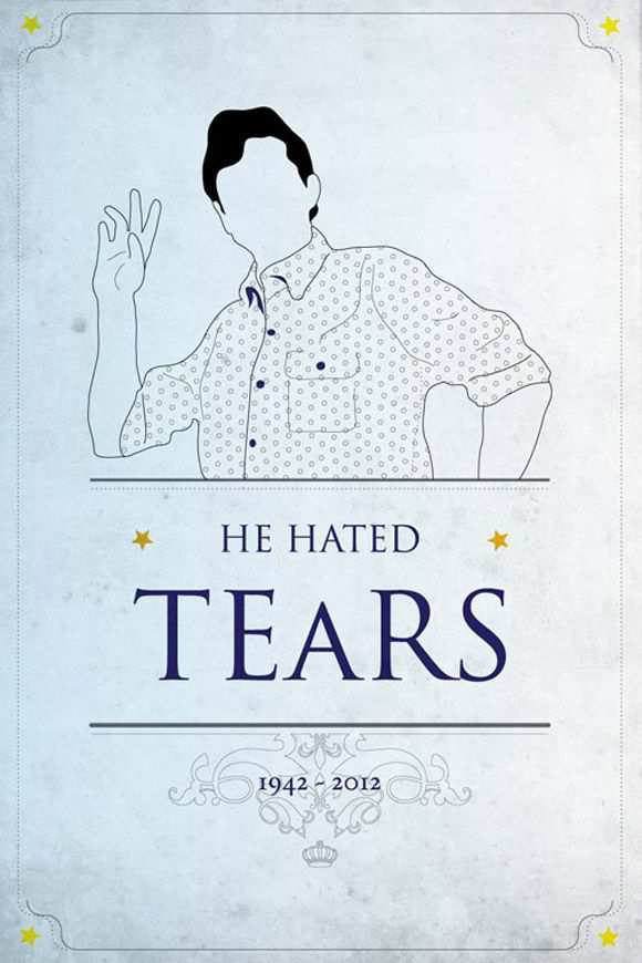 creative minimal movie poster of the He Hated Tears film