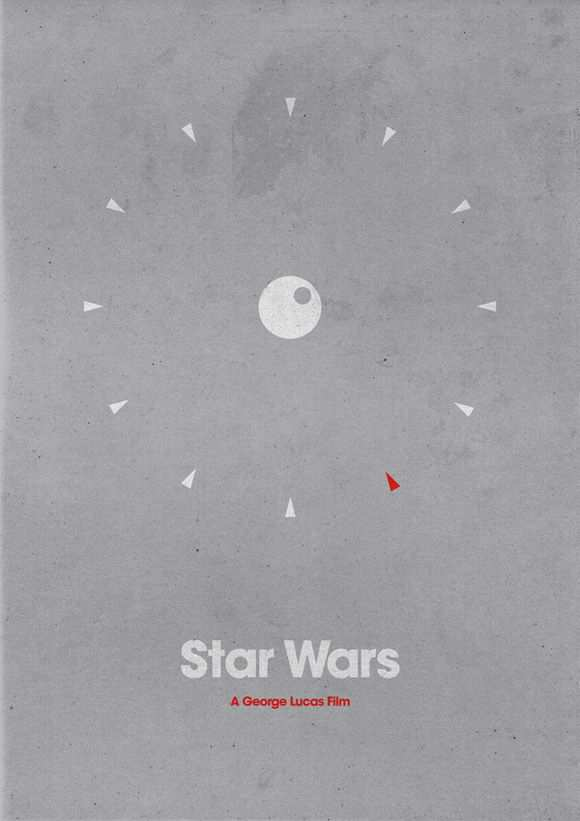 creative minimal poster of the Star Wars movie