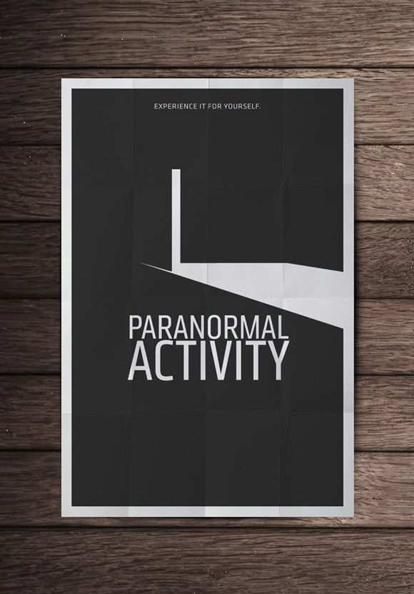 creative minimal poster of the Paranormal Activity film