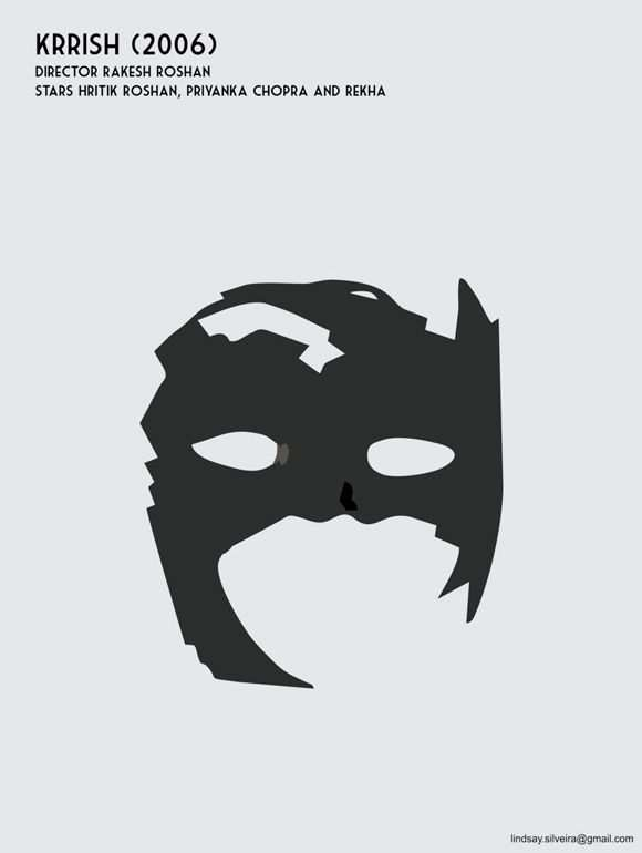 creative minimal poster of the Krrish movie