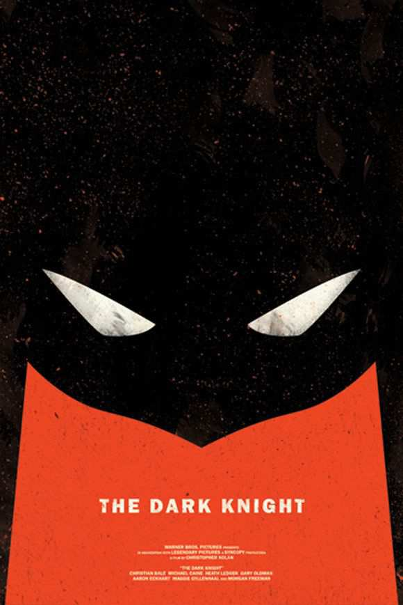 creative minimal poster of the The Dark Knight film