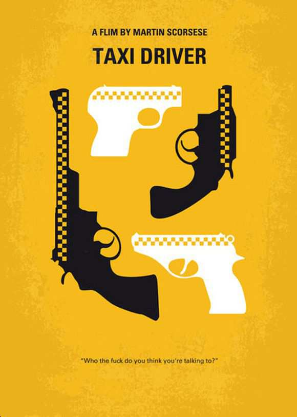 creative minimal poster of the Taxi Driver movie