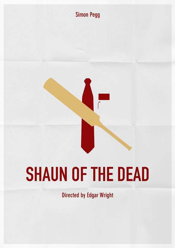 creative minimal poster of the Shaun of The Dead film