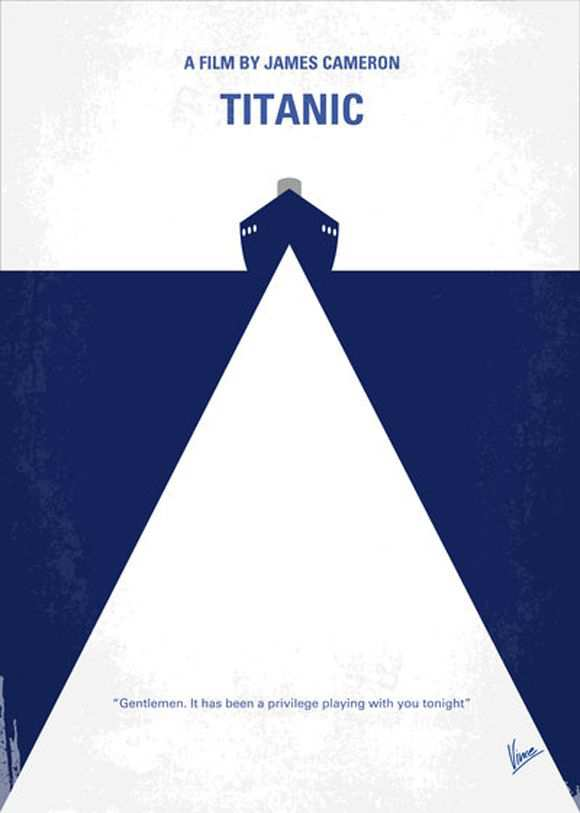 creative minimal poster of the Titanic movie