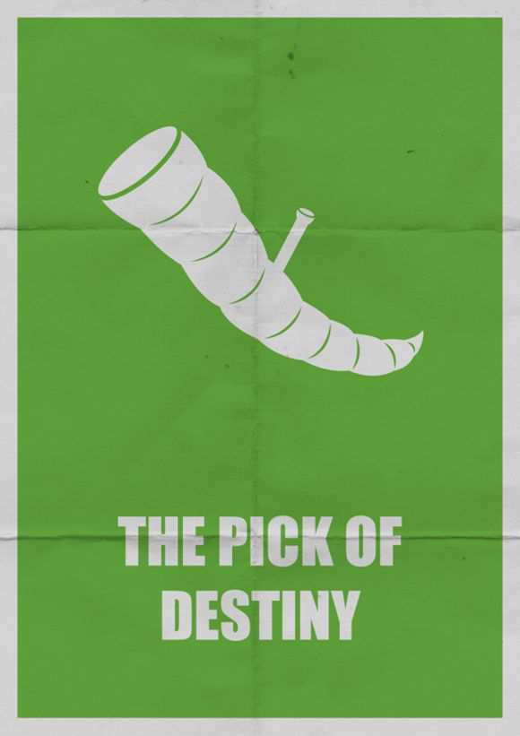 creative minimal poster of the The Pick of Destiny film