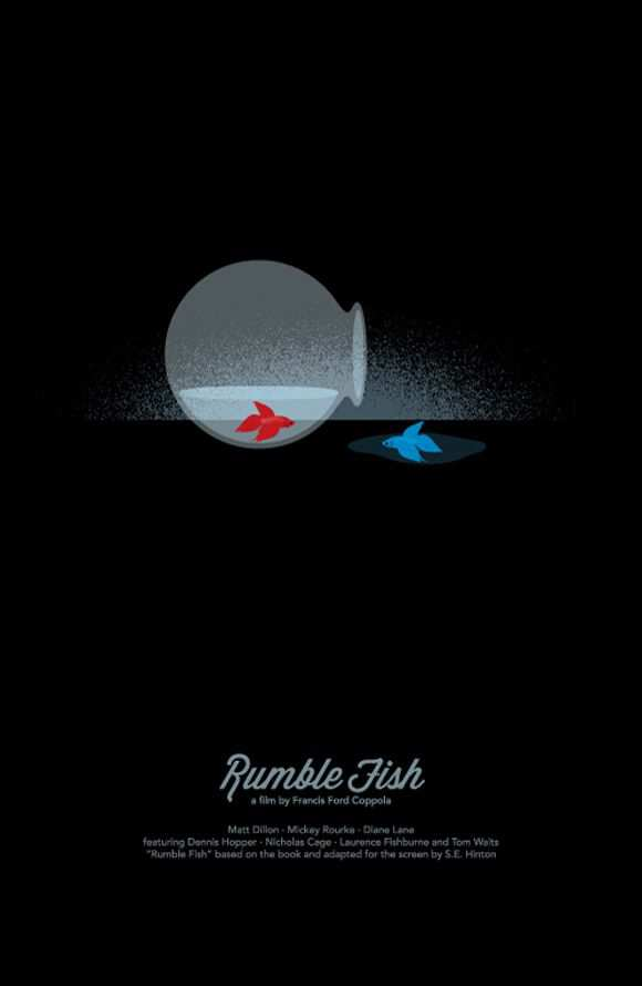 creative minimal poster of the Rumble Fish film