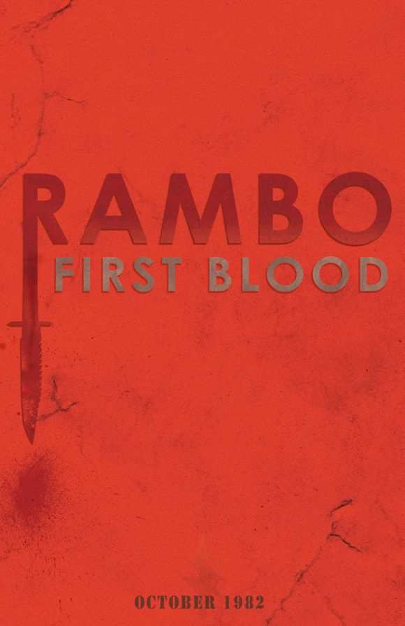 creative minimal poster of the Rambo film