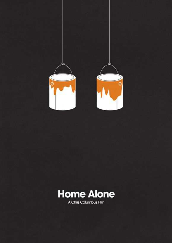 creative minimal poster of the Home Alone movie