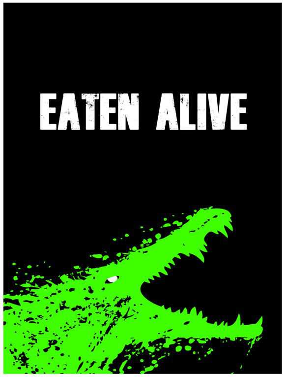 creative minimal poster of the Eaten Alive film
