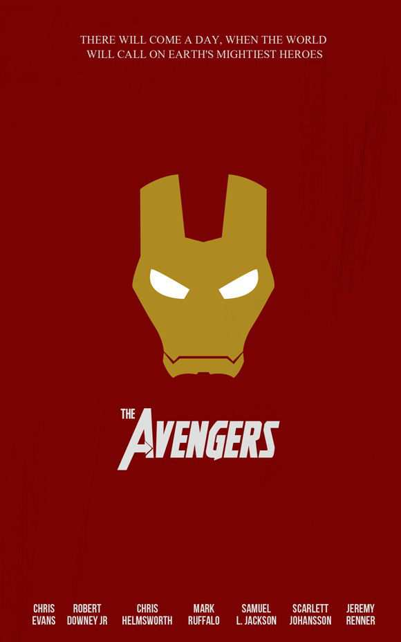 creative minimal poster of the The Avengers movie