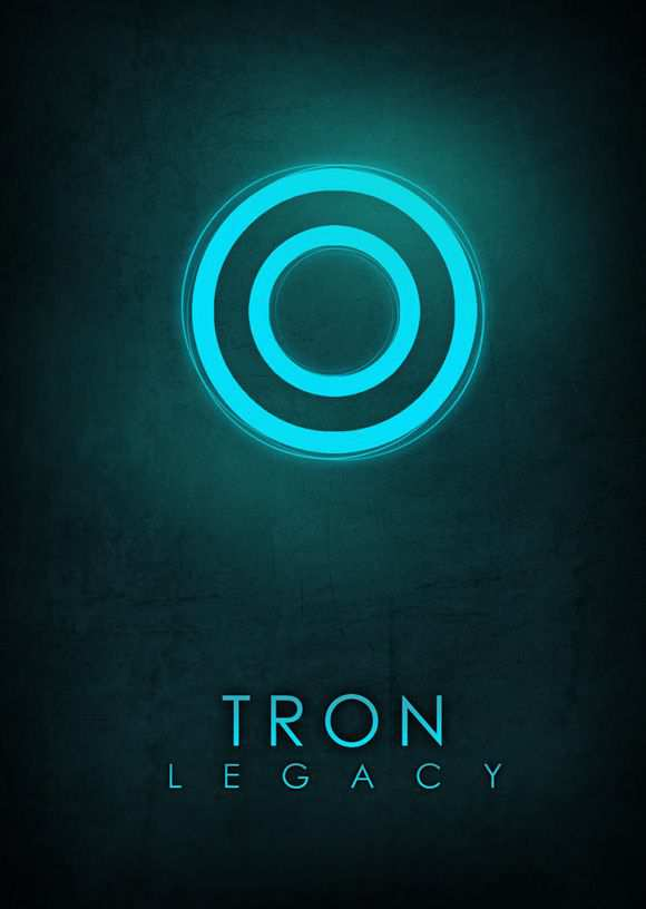 creative minimal movie poster of the Tron Legacy movie