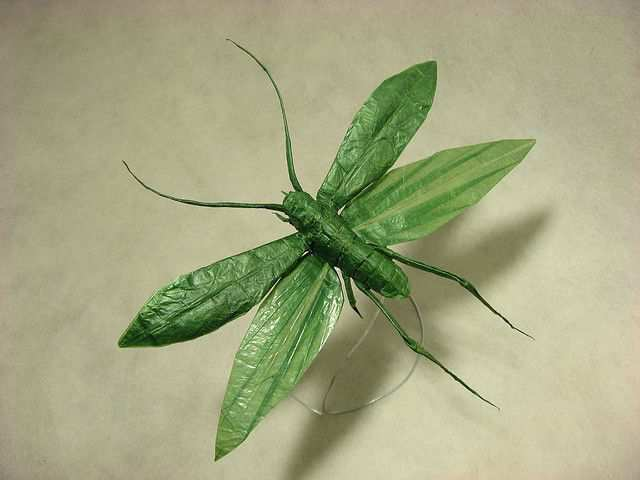 papercraft inspiration example Flying Katydid