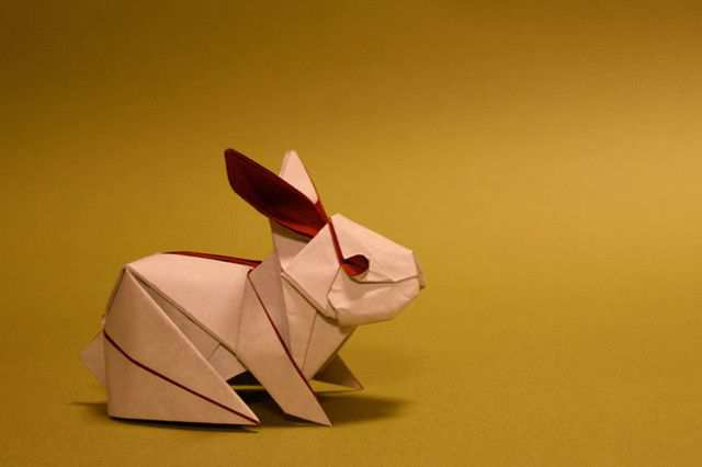 papercraft inspiration example Origami Rabbit