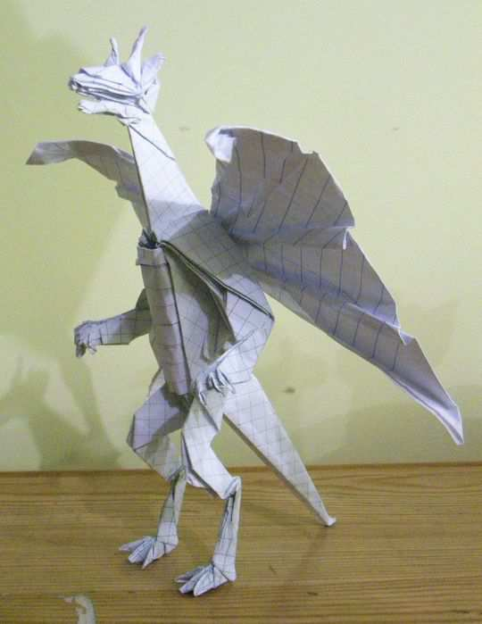 papercraft inspiration example Origami Anthro Dragon