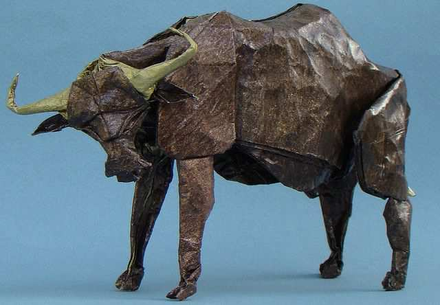 papercraft inspiration example Water Buffalo
