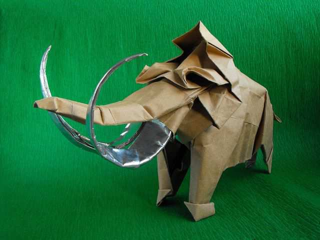 papercraft inspiration example Mammoth