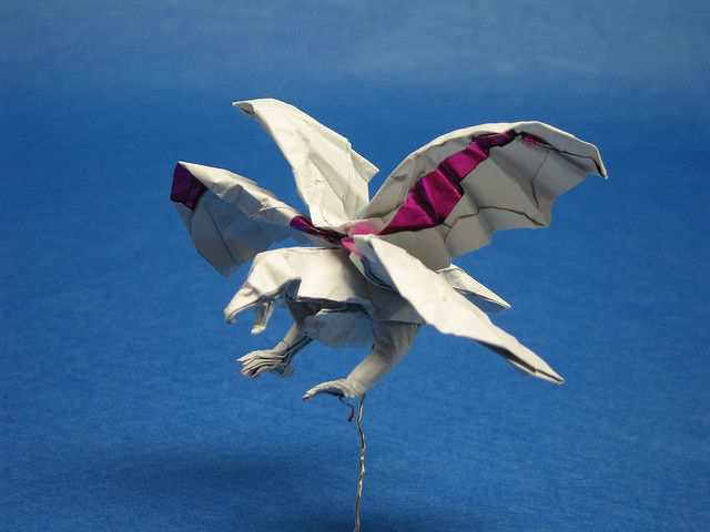 papercraft inspiration example Double Hawk!