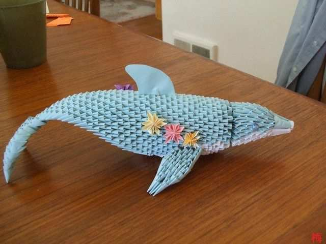 papercraft inspiration example Origami Dolphin