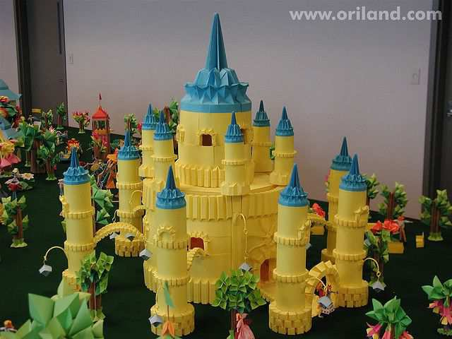 papercraft inspiration example SunCity Castle