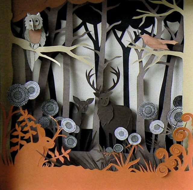 papercraft inspiration example Autumn Wood