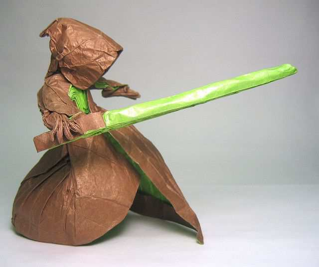 papercraft inspiration example Jedi