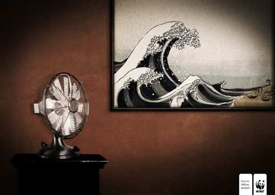 Print Ad - Fan and Tsunami Painting