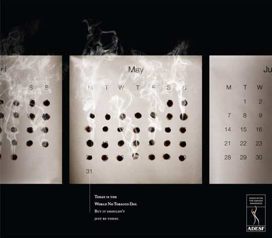 Print Ad - Burnt Calendar Dates