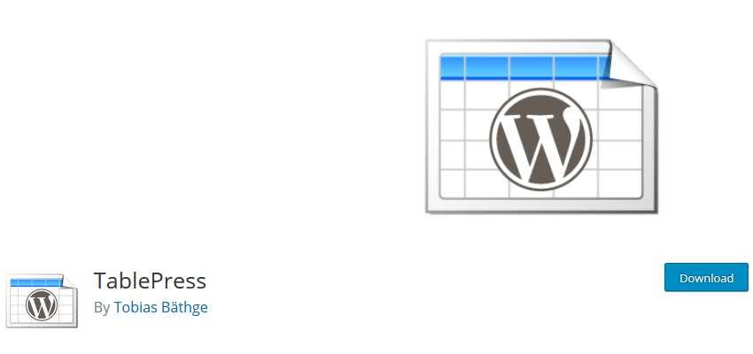 TablePress wordpress php