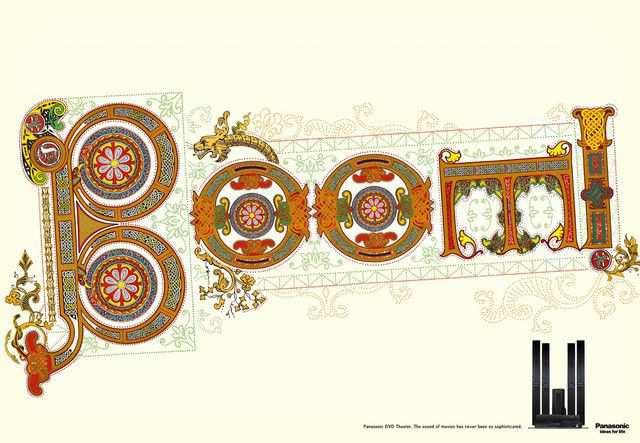 The Panasonic DVD Theater: Boom as an example of inspirational typography example in print ads