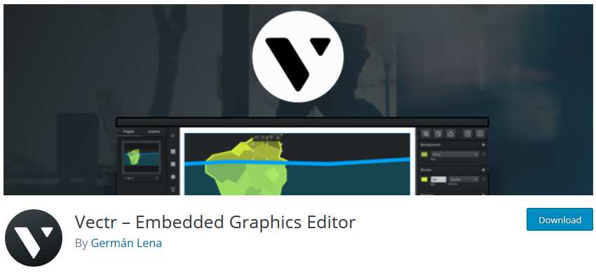 Vectr Embedded Graphics Editor wordpress php