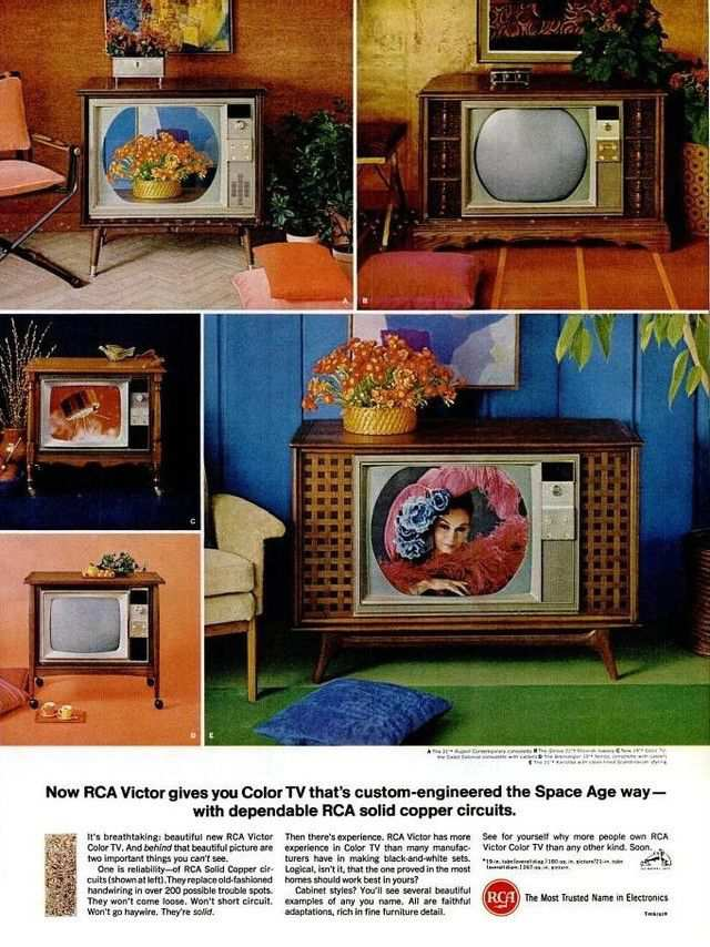 vintage poster advertisment design Vintage ad: RCA televisions, 1966