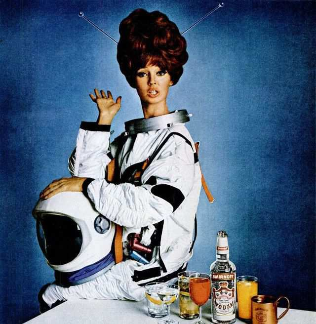 vintage poster advertisment design Smirnoff 1966