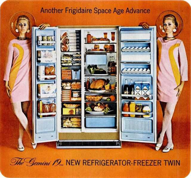 vintage poster advertisment design Frigidaire 2 1966
