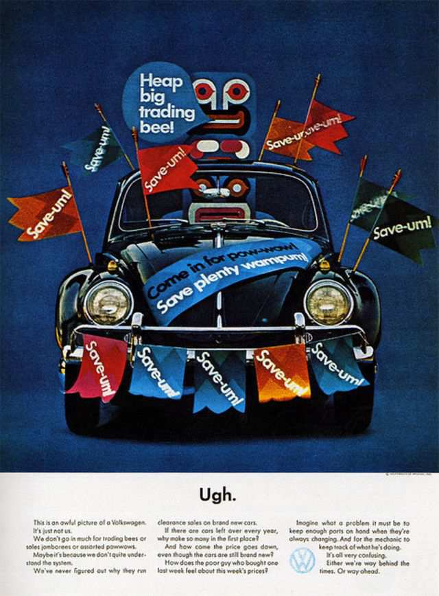 vintage poster advertisment design Magazine Ad - Volkswagen 2 (USA)