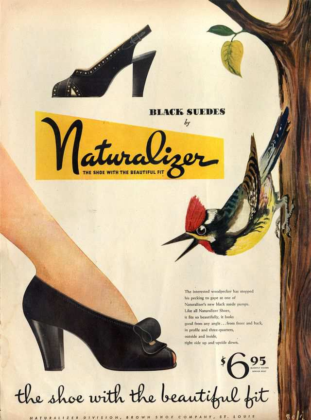 vintage poster advertisment design Naturalizer women's shoes