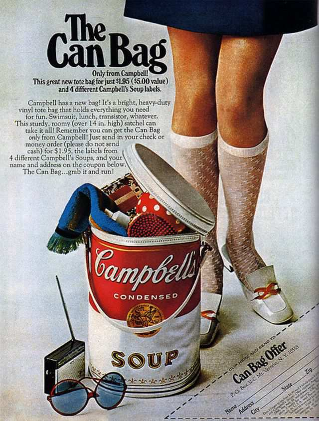 vintage poster advertisment design Campbell's Soup (USA)