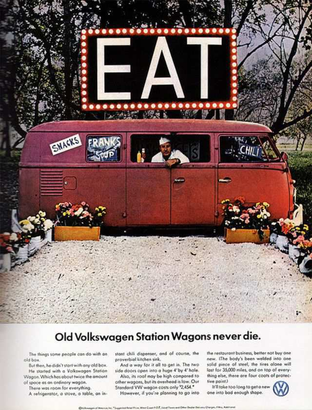 vintage poster advertisment design Volkswagen 1